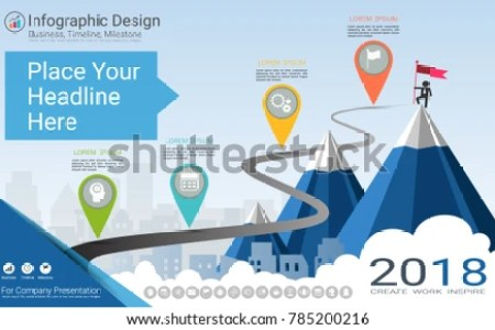 Business Infographics Template Milestone Timeline Road Stock Vector     Business infographics template  Milestone timeline or Road map with Process  flowchart 4 options  Strategic