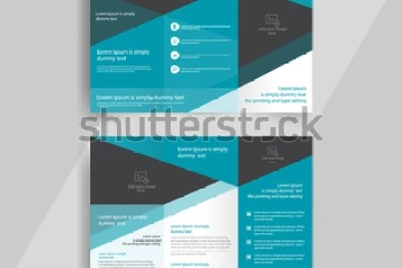 Business Trifold Brochure Layout Design Vector Stock Vector  Royalty     business tri fold brochure layout design  vector a4 brochure template