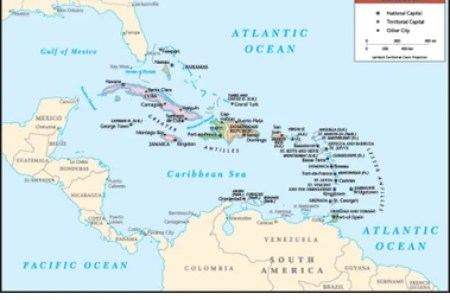 caribbean islands map » Full HD MAPS Locations - Another World ...