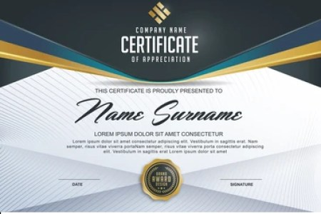 Certificate Images  Stock Photos   Vectors   Shutterstock certificate template with luxury and modern pattern diploma Vector  illustration