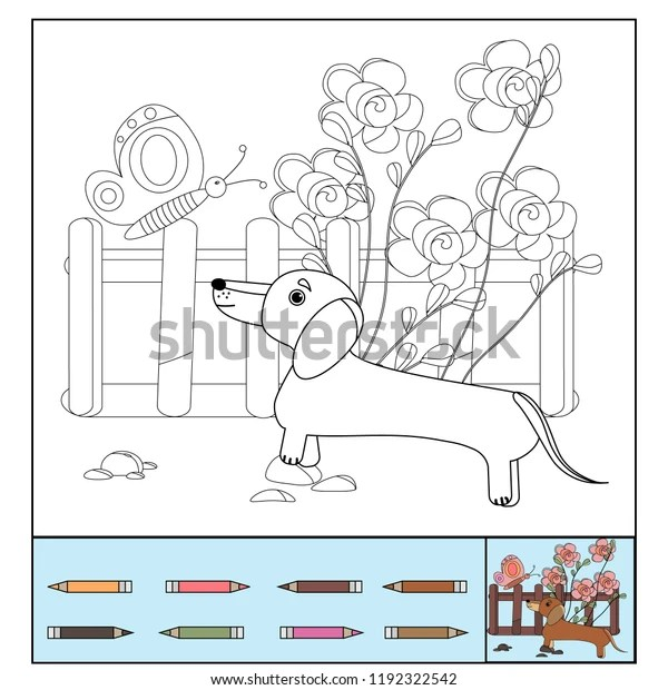 dachshund coloring pages # 11