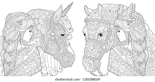coloring pages kids fairy tale king queen # 20
