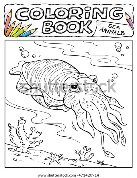squid coloring pictures # 16