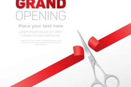 New invitation cards for shop opening best of grand opening grand opening ceremony images stock photos vectors shutterstock grand opening party invitation card with gold curly ribbons frame crown and scissors stopboris Gallery