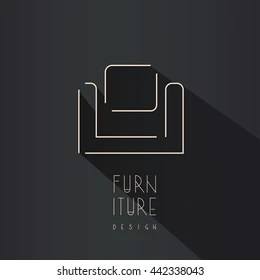 Furniture Logo Images  Stock Photos   Vectors  10  Off    Shutterstock Interior designer brand identity  Armchair line logo  Furniture icon with  shadow