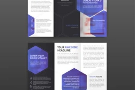 Medical Tri Fold Brochure Template Layout Stock Vector  Royalty Free     Medical tri fold brochure template Layout with icons set  Pharmaceutical brochure  tri fold modern design