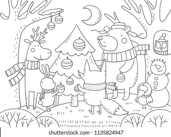 adult christmas coloring pages # 47