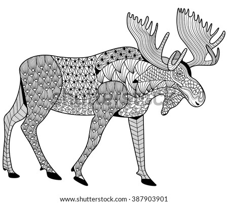 moose coloring page # 7
