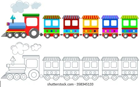 train coloring pages # 29