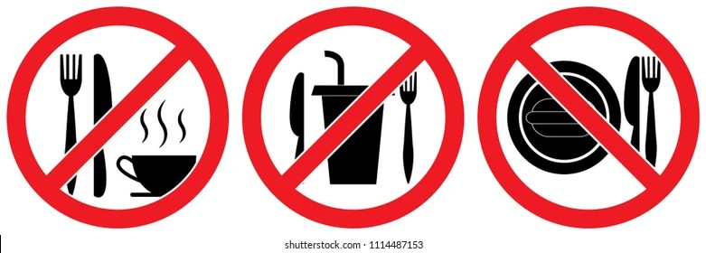 Food Drinks No And Allowed Vector