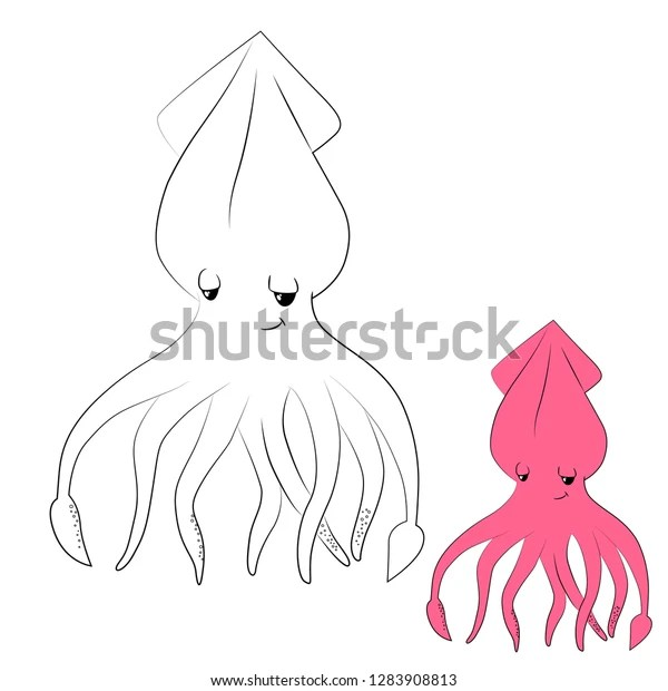 squid coloring pic # 56