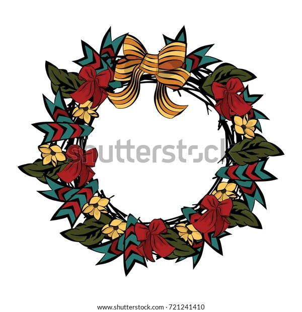 wreath template free # 37