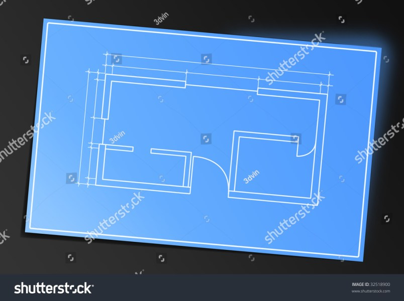 Blueprint House Map Stock Illustration 32518900   Shutterstock Blueprint of house map