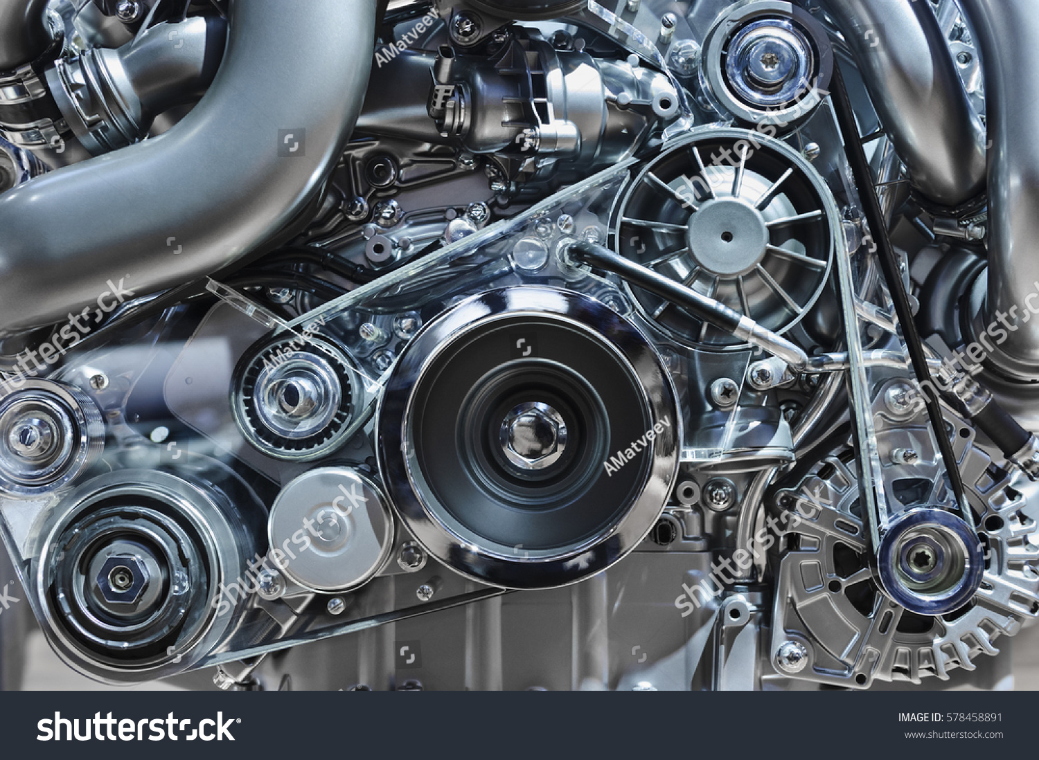 Car Engine Concept Modern Vehicle Motor Stock Photo