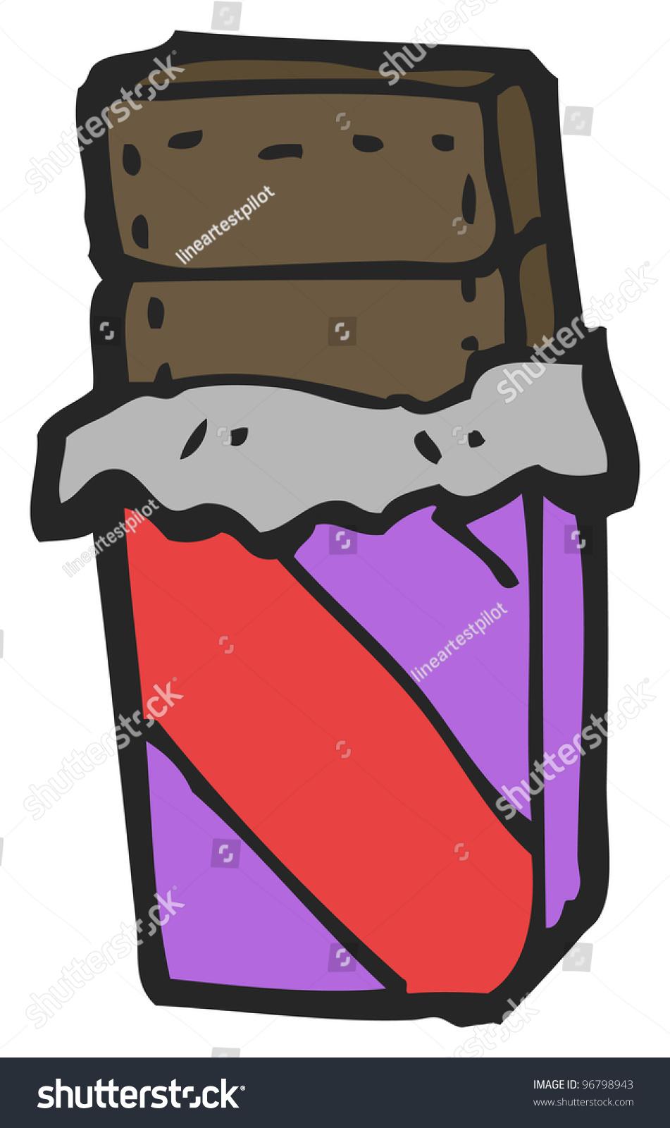 Cartoon Chocolate Bar Stock Illustration 96798943