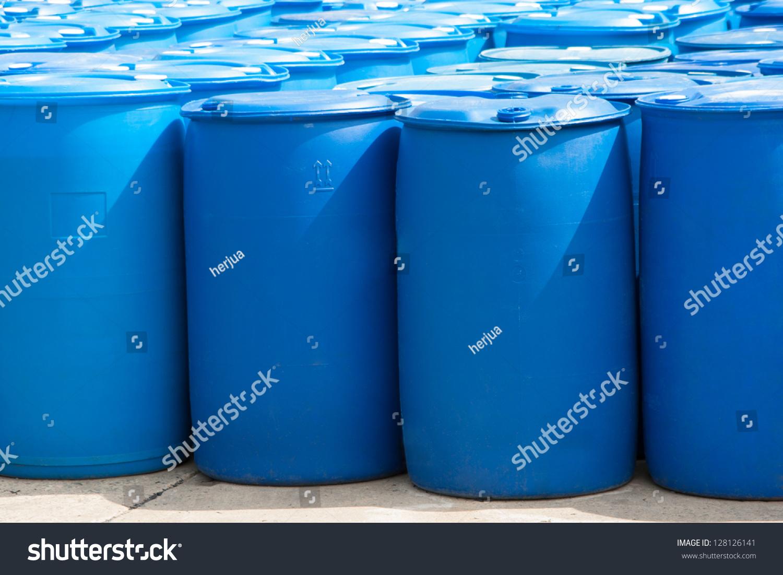 White Plastic Barrels