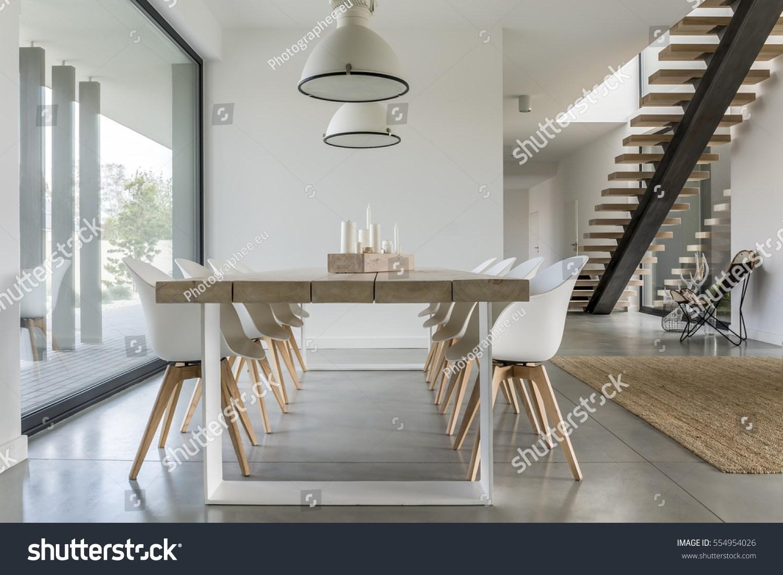Dining Room Window Ceiling Lamp Stairs Stock Photo Edit Now | Stair Room Window Design | 3D Model | Smart Window Grill | Elegant | Landing | House Beautiful