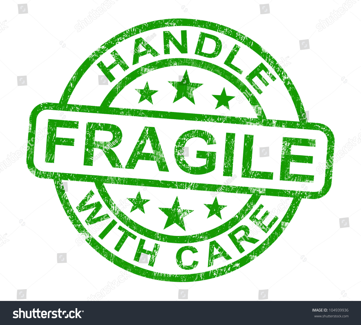 Fragile Handle Care Stamp Showing Breakable Stock ...