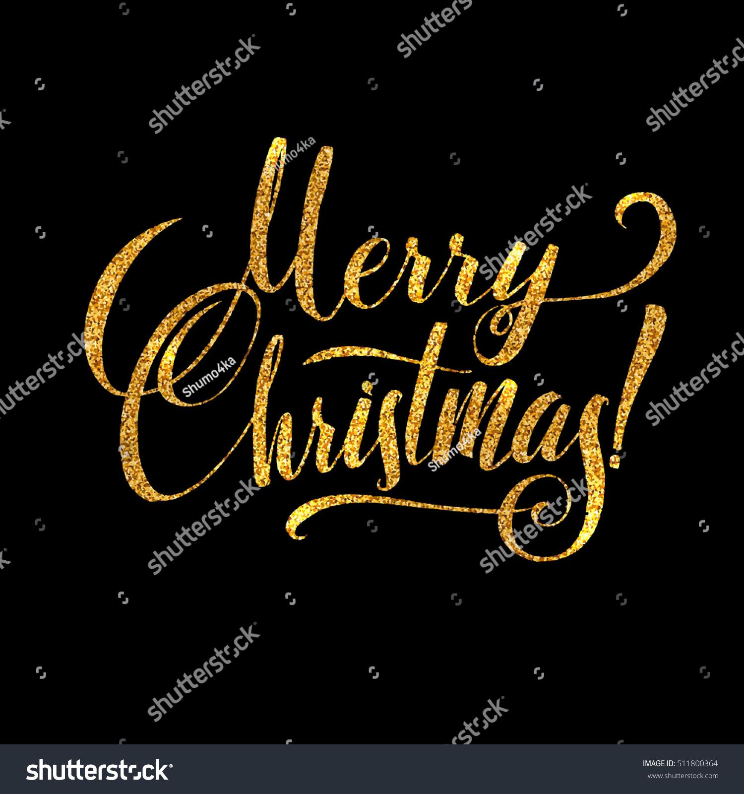 Glitter Merry Christmas Message Facebook