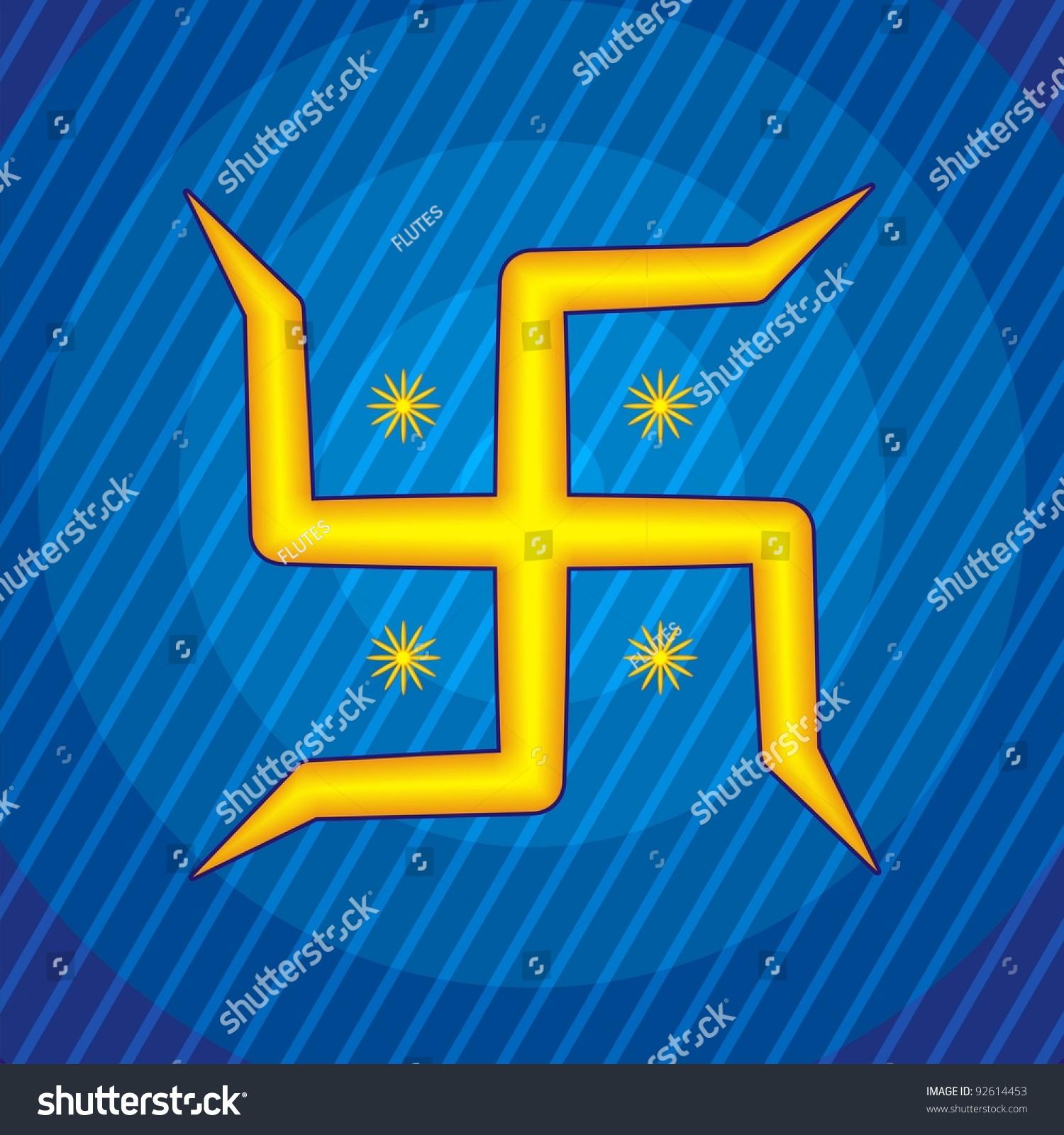 Indian Hindu Symbol Swastika Stock Photo 92614453 ...