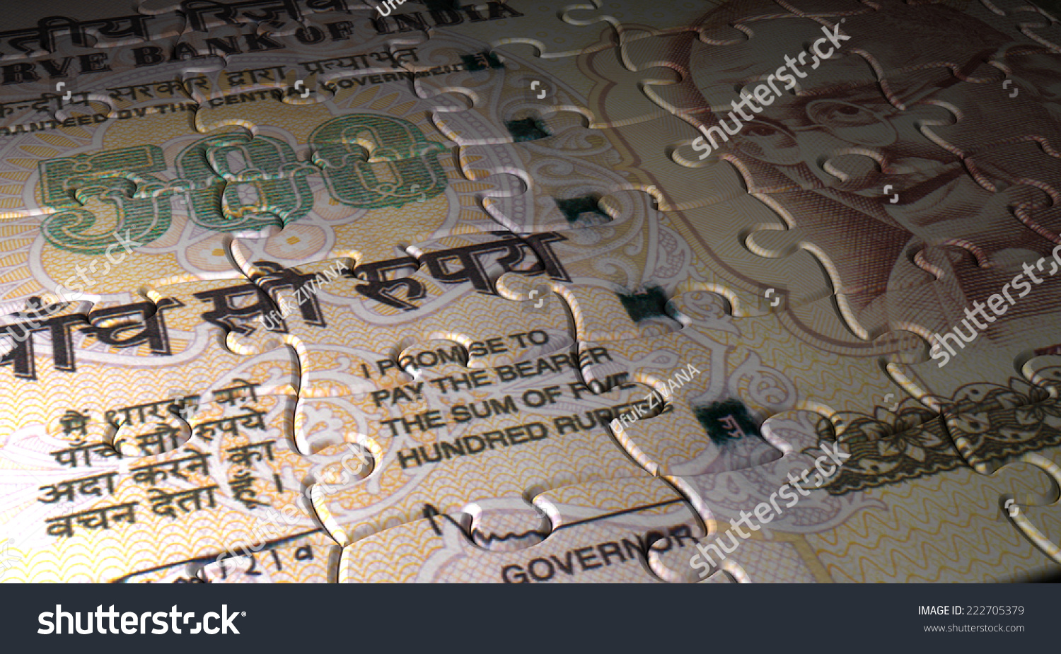 Indian Rupee Puzzle Stock Photo 222705379 : Shutterstock