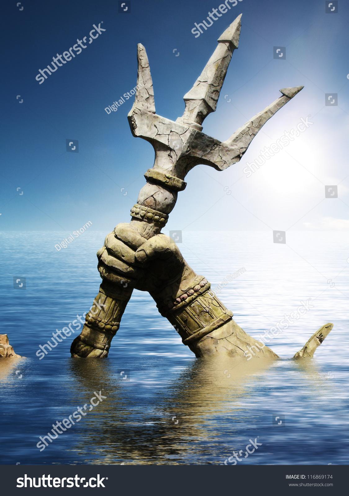 Greek Symbol Poseidon