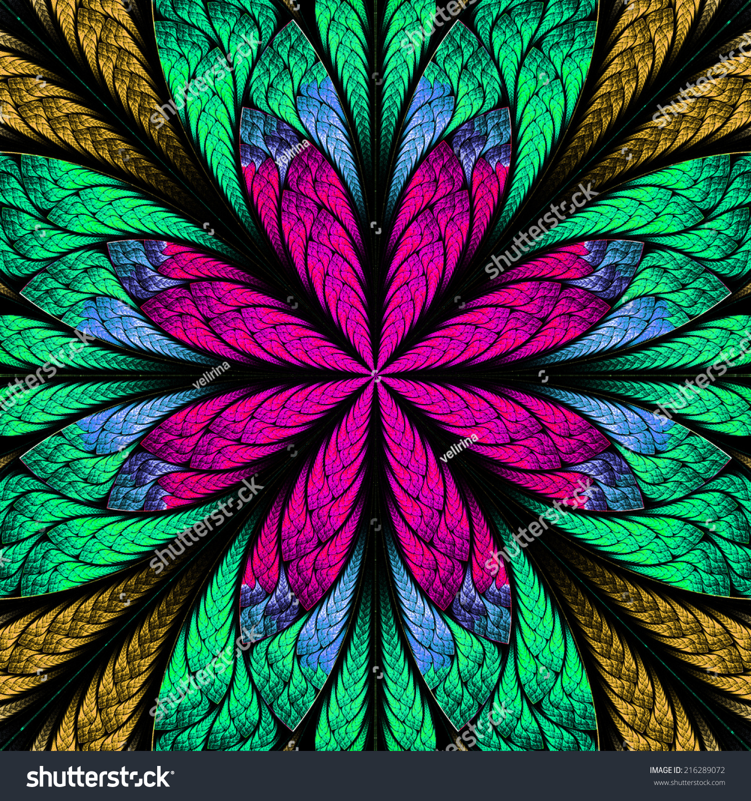 Abstract Stained Glass Fabric