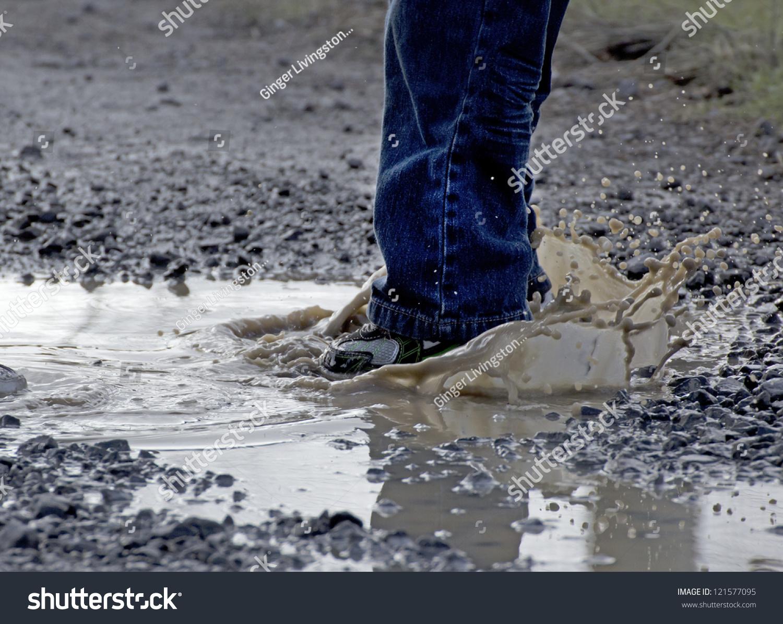 Feet Rain Images Stomping