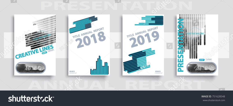 Blue Strip Annual Report 2018 2019 Stock Vector 751628548 ...