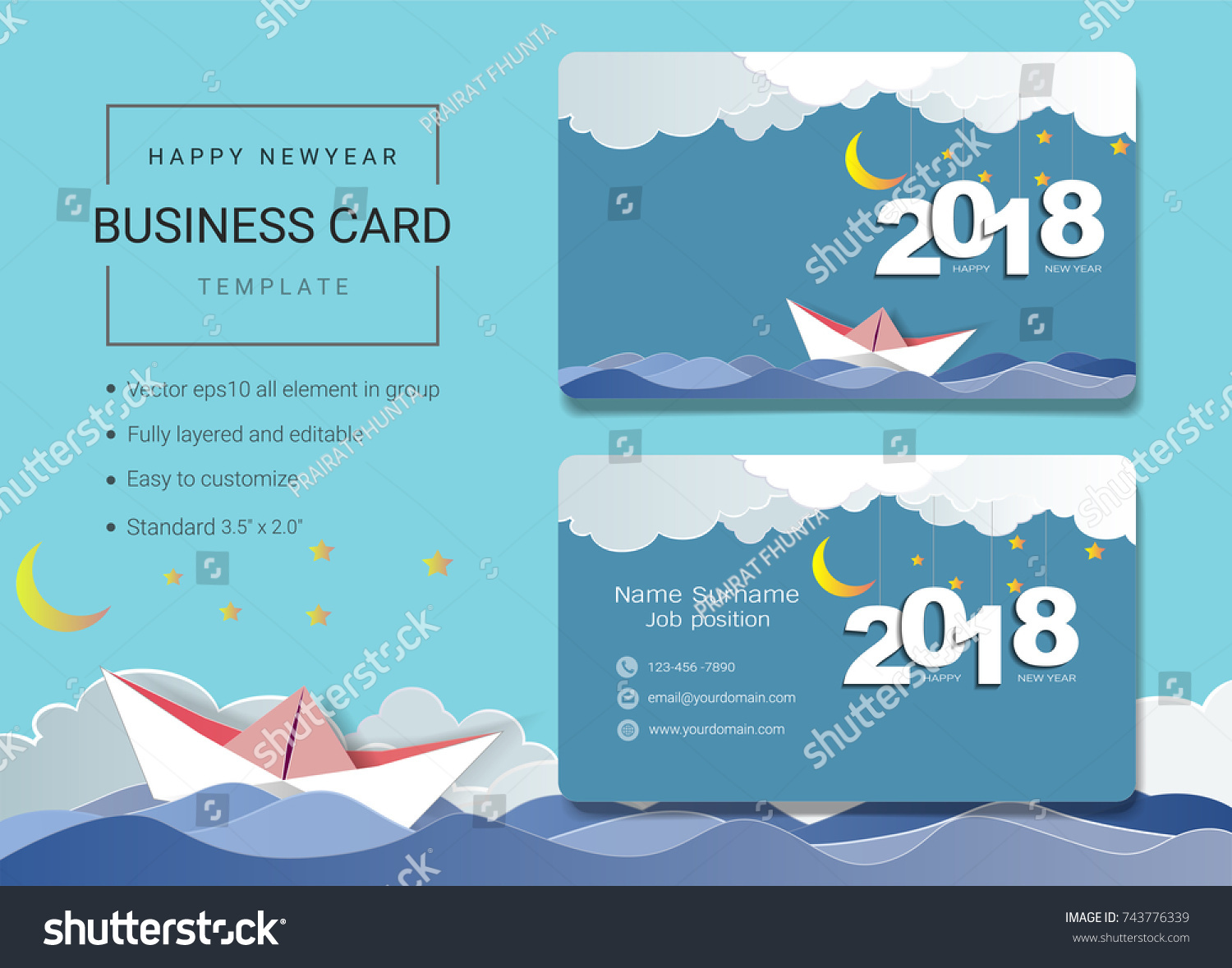 New Year Greetings Email Example Images   greetings card design simple 2018 Happy New Year Business Name Stock Vector 743776339 Shutterstock