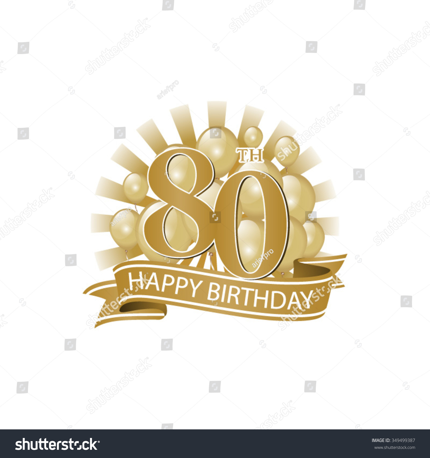 Happy 80th Birthday Cake Images