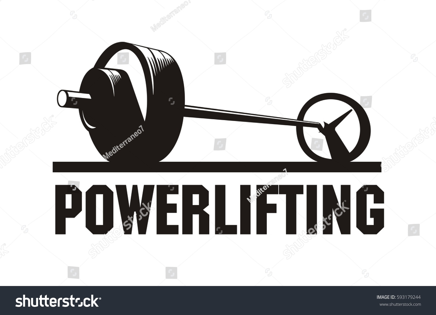 Barbell Weights Vector Image Stock Vector 593179244