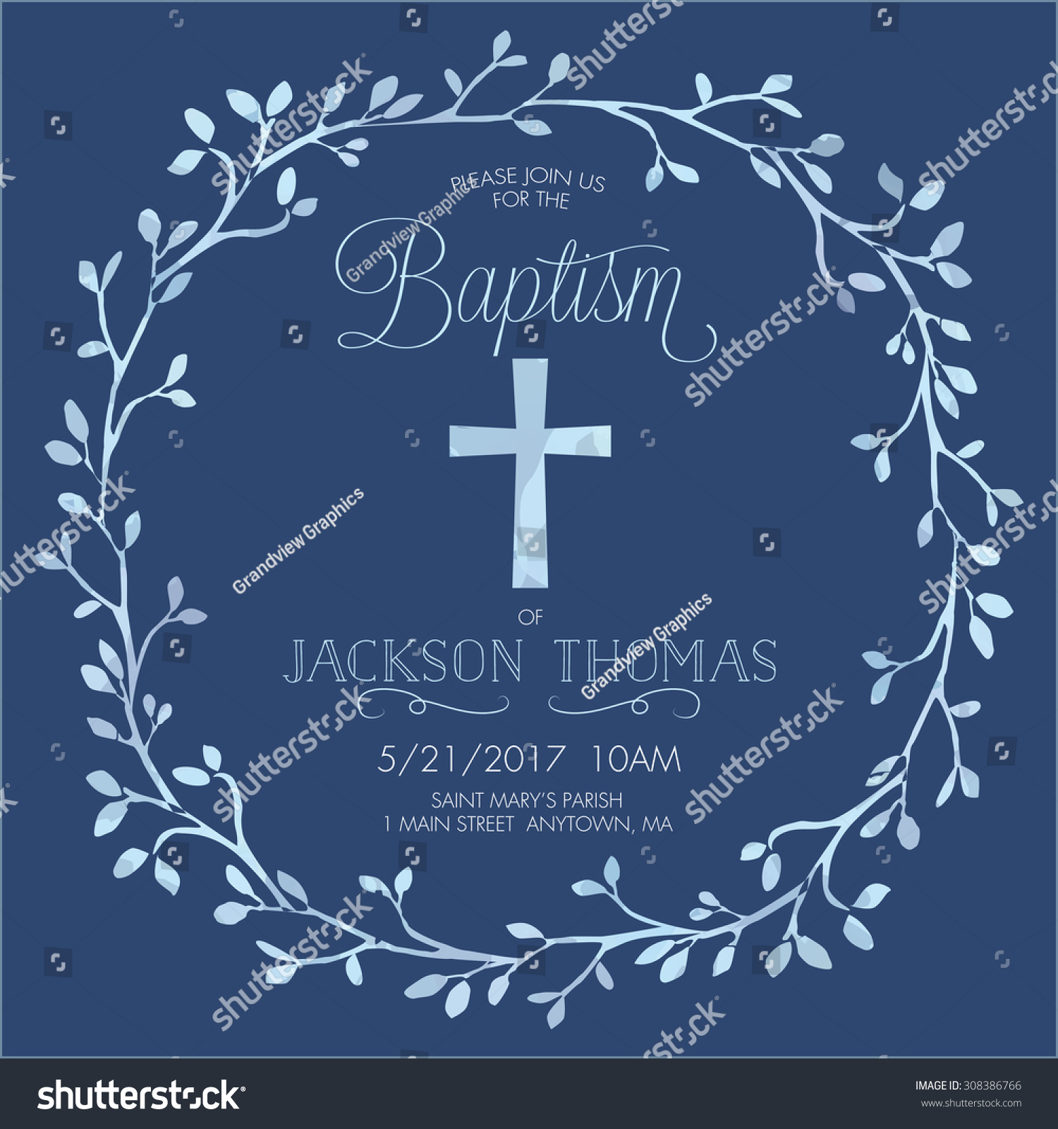 Customized Christening Invitation
