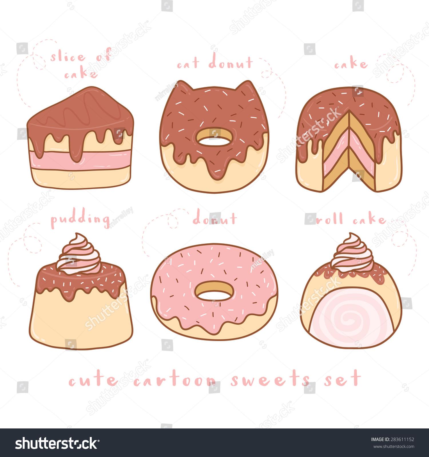 Cute Sweets Cartoon Drawings