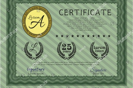 Green Certificate diploma or award template  Elegant design  With     ID  743738533