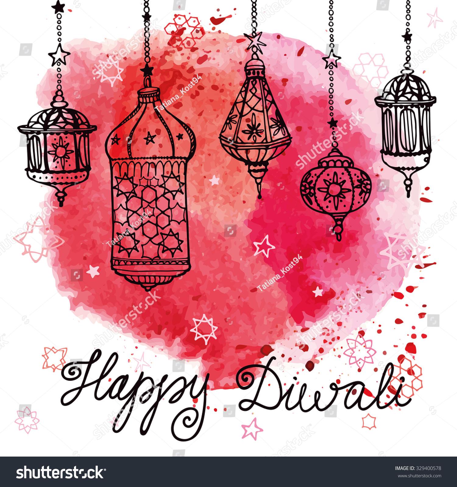 Simple Images Of Diyas Diwali Greetings Cards