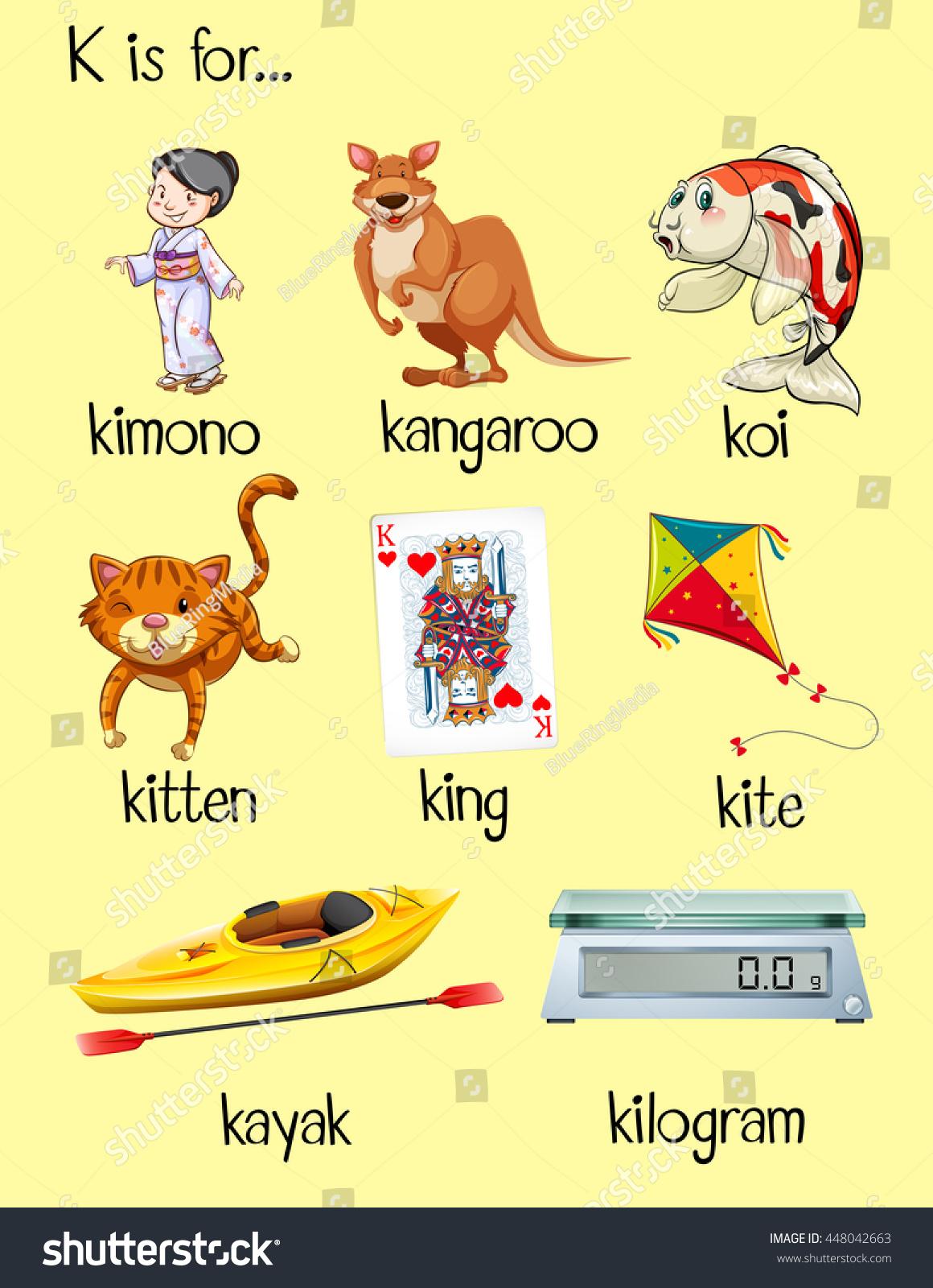 K Begin Letter Words