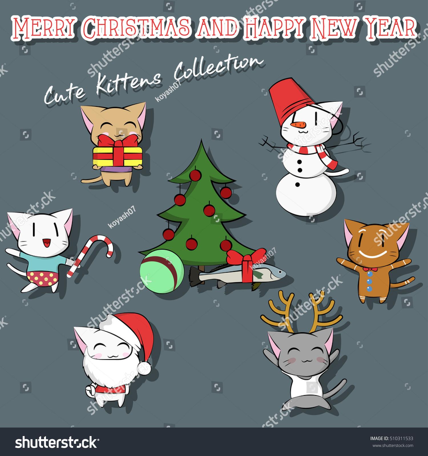 Kitties And New Year Greetings