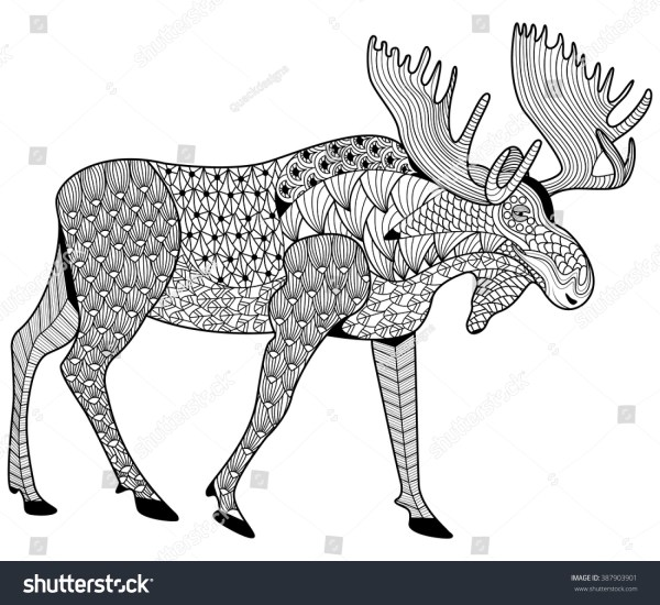 moose coloring page # 11
