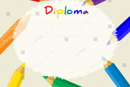 Preschool Elementary School Kids Diploma Certificate Stock Vector     Preschool Elementary school  Kids Diploma certificate background design  template  School diploma  Frame from