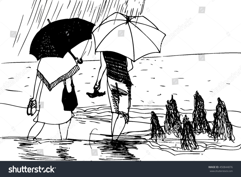 Rainy Season Background Rainy Day Illustration Stock Vector 450844876 Shutterstock