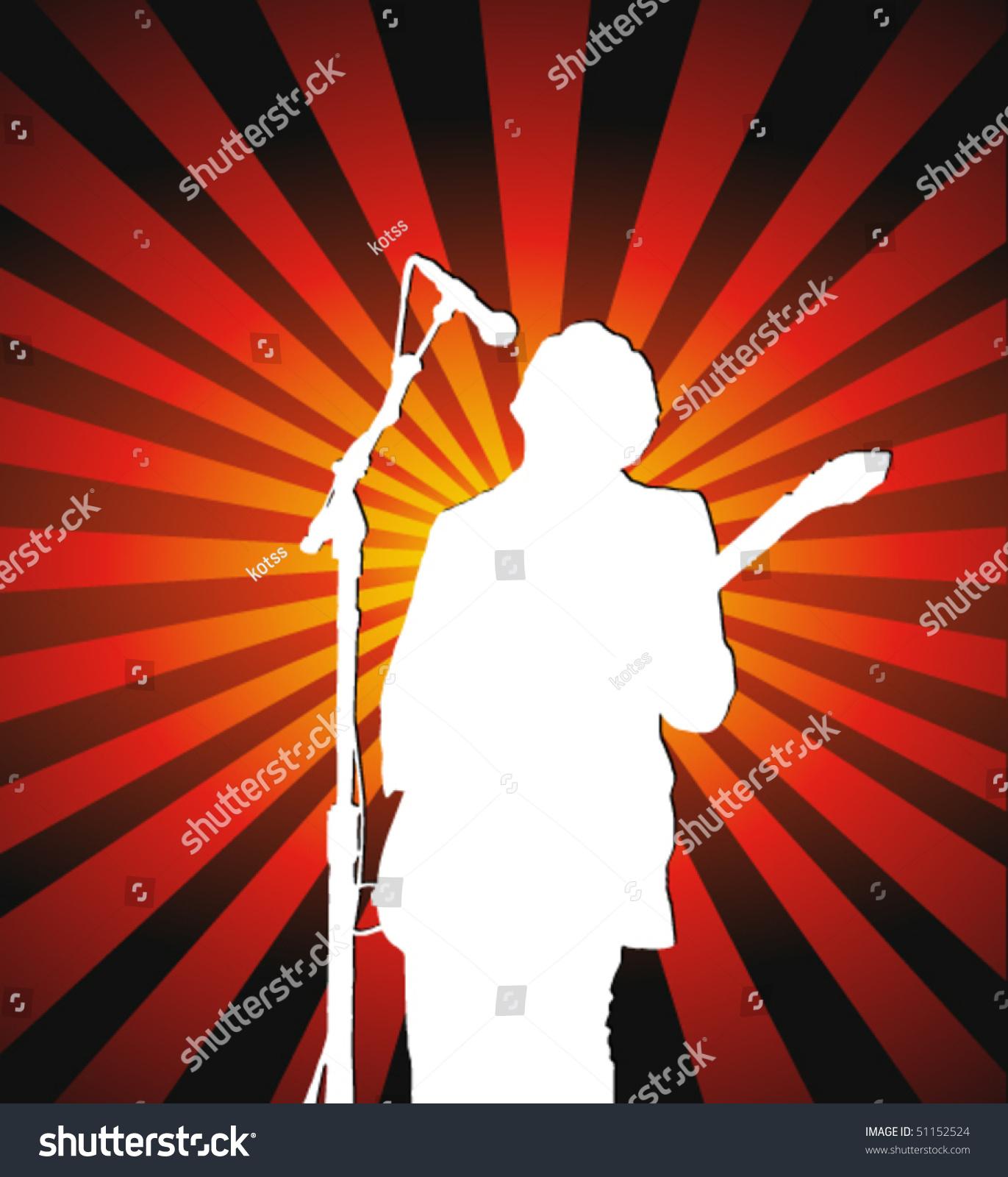 Clip Art Rock Star Singer