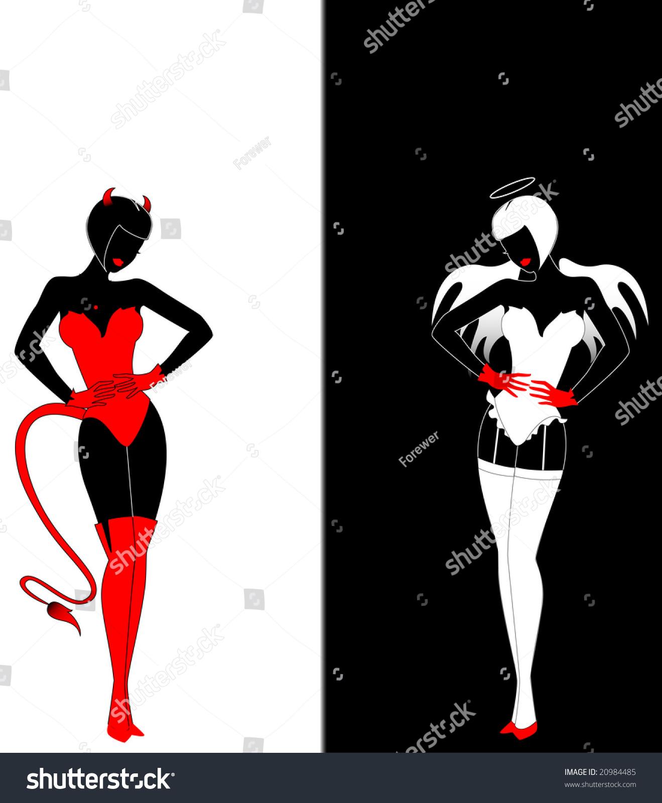 Devil Images Angel Silloqauette
