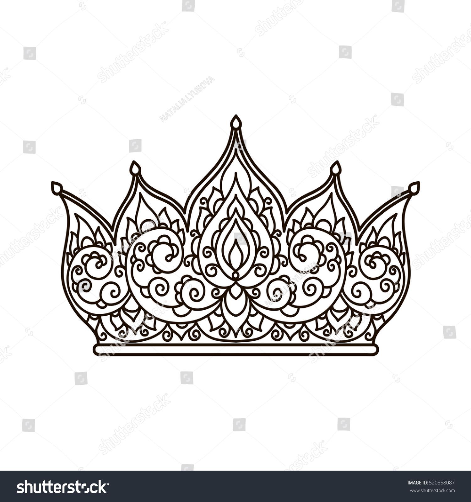 Enchanting King Crown Coloring Pages Festooning - Resume Template ...