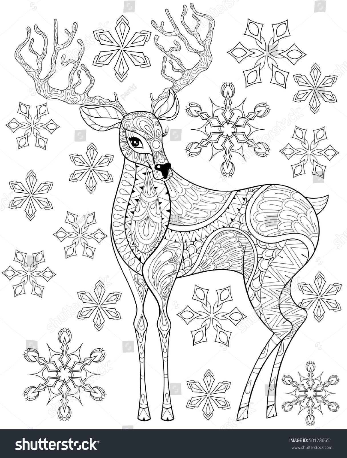Christmas Reindeer Coloring Pages Free Coloring Pages Download ...