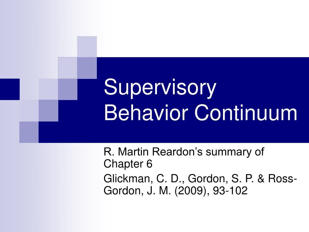 Behavior Continuum Jaffe