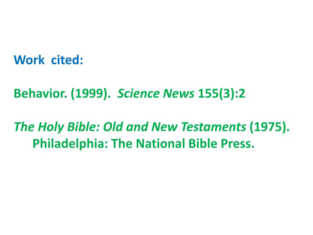 citing the bible apa style