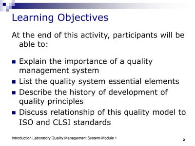 PPT - Introduction- Laboratory Quality Management System ...