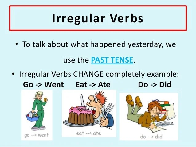 Difference Between Regular And Irregular Verbs