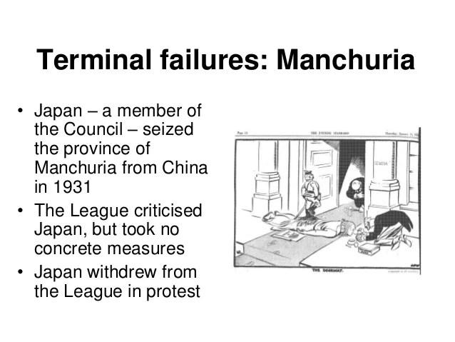 league of nations failure manchuria